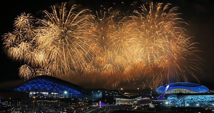 Ceremonia de clausura de los JJOO de Sochi en 2014