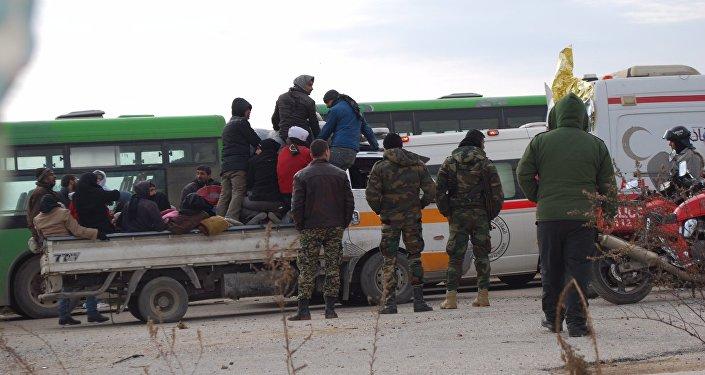 Evacuación de los combatientes de Alepo