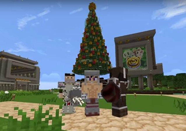 Ilustración del gameplay navideño