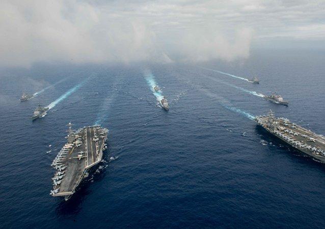 Los buques de EEUU (imagen referencial)