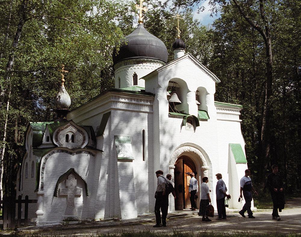 La iglesia del Lienzo de Edesa, en la hacienda de Abrámtsevo, a 60 kilómetros de Moscú.