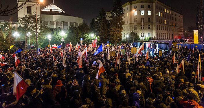 Manifestaciones en Varsovia