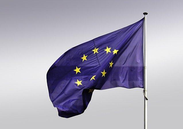 La bandera de la UE (archivo)