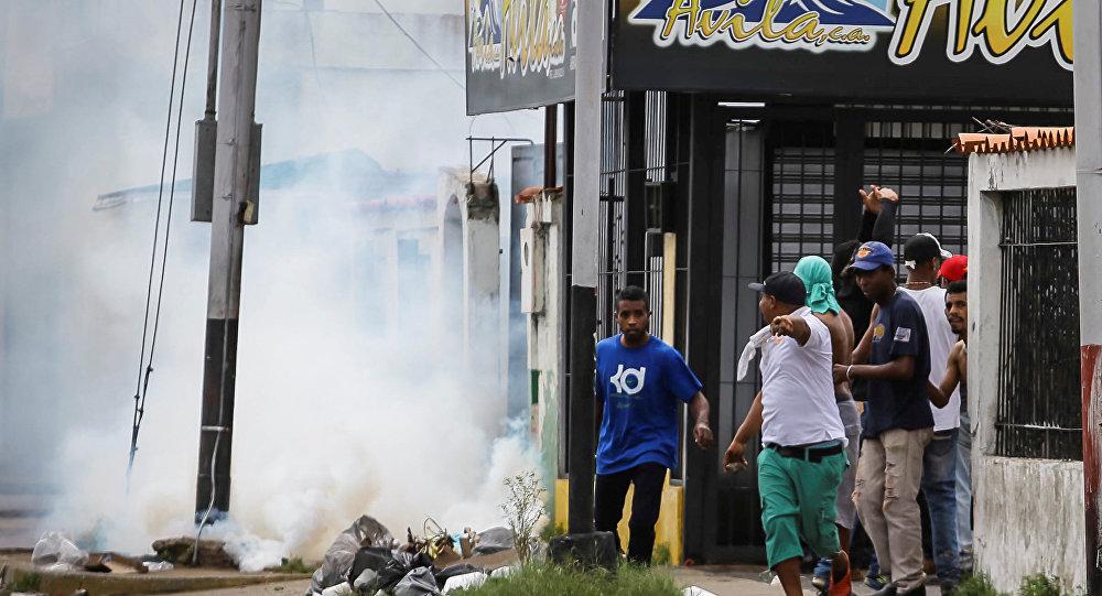 Choques en la ciudad venezolana de Bolívar (archivo)
