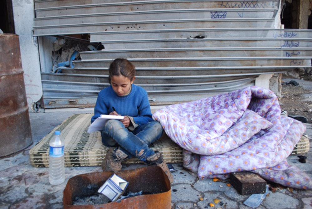 Fátima, niña siria de Alepo