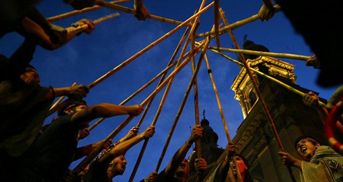Protesta del pueblo indígena mapuche (archivo)