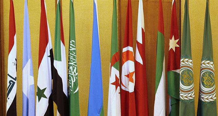 Banderas de los países de la Liga Árabe