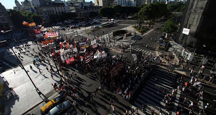 Marcha de protesta en Argentina
