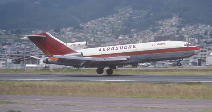 Un avión de carga Boeing 727 de la aerolínea Aerosucre (archivo)