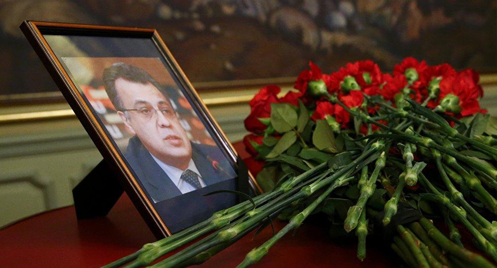 Foto de Andréi Kárlov, embajador de Rusia en Turquía