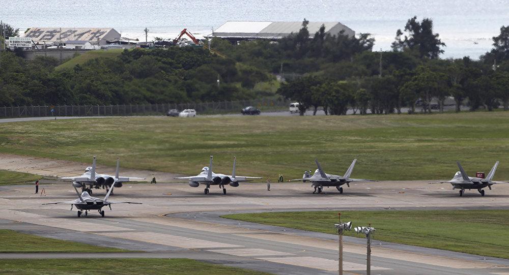 Una instalación militar de EEUU en la prefectura de Okinawa, Japón