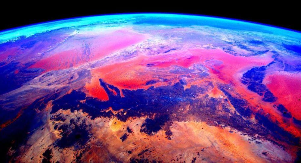 La vista de la Tierra desde el espacio