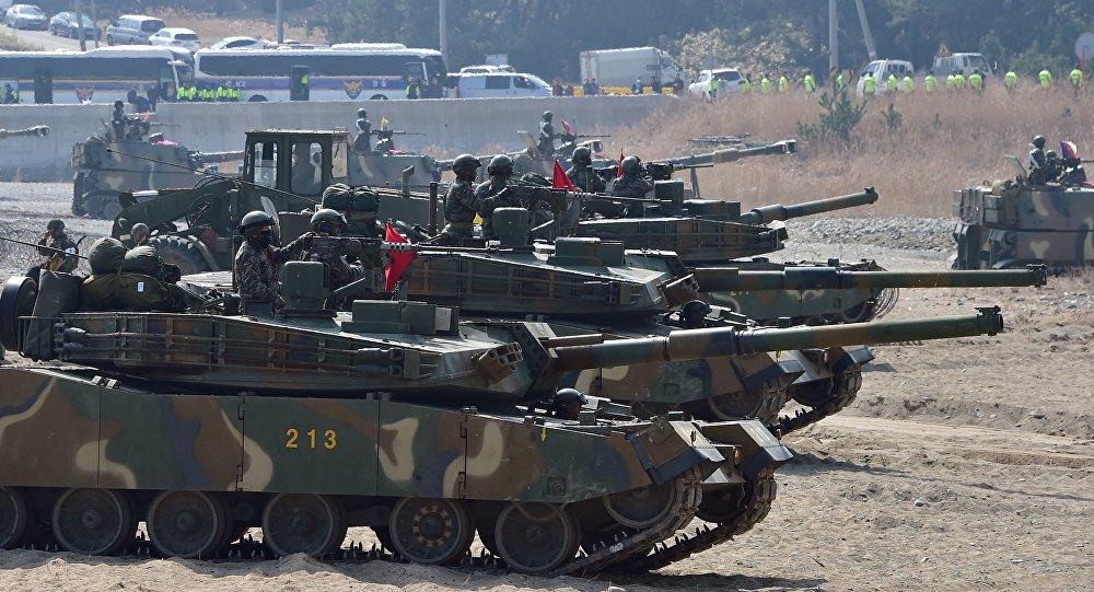 Tanques K-1 surcoreanos