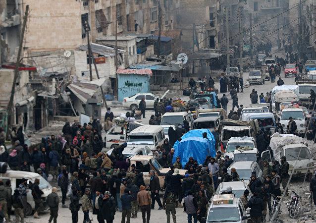 Evacuación en Alepo (archivo)