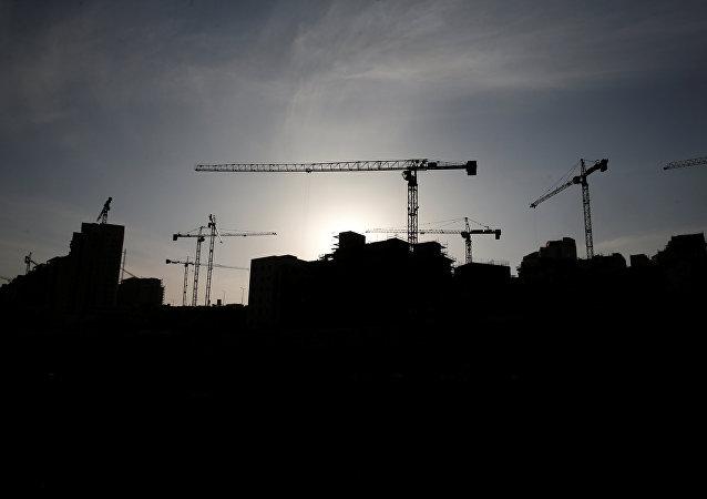 Construcción de asentamientos judíos en Palestina (archivo)