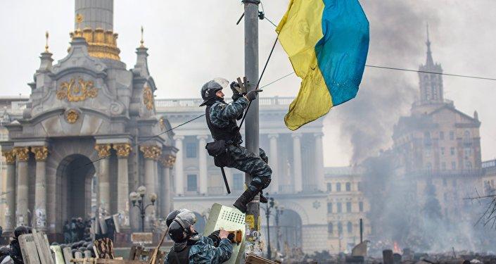La situación en Kiev durante Euromaidán