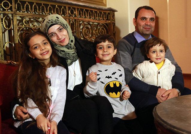 Bana y su familia