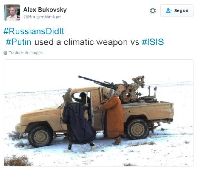 'Los Rusos lo Hicieron': ¿Nieve en Siria? Putin utilizó armas climáticas contra Daesh