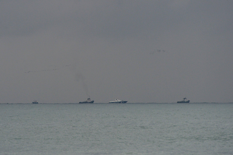 Lugar del siniestro del avión TU 154 en Sochi