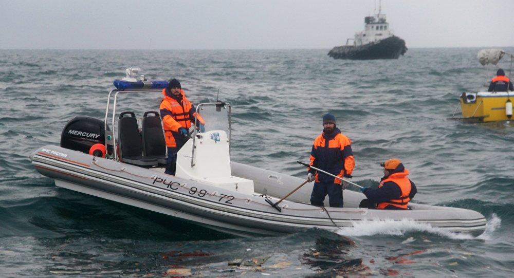 Operación de búsqueda y rescate en el lugar de la catástrofe del Tu-154