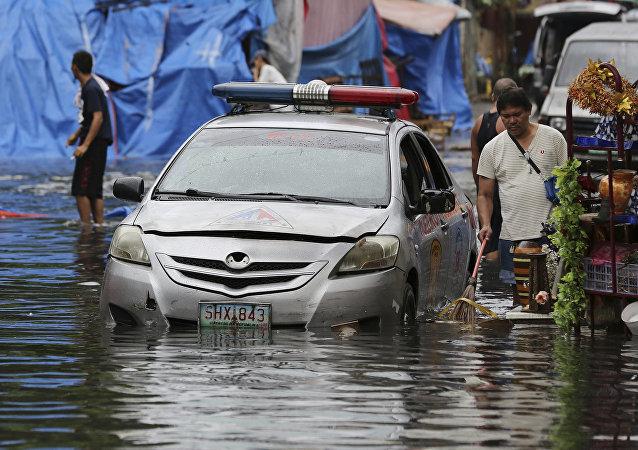 Consecuencias del tifón Nock-Ten en Filipinas