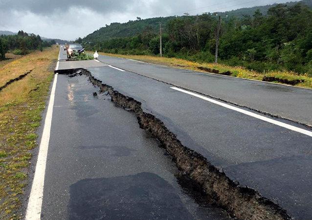 Consecuencias de un terremoto en Chile (archivo)