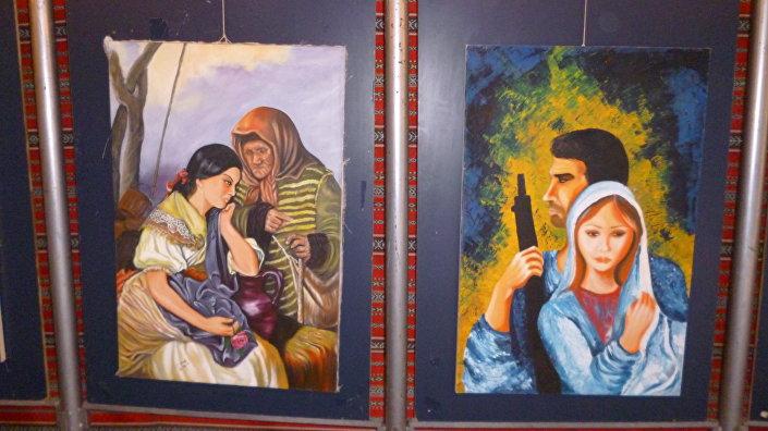 Pinturas del artista paralítico sirio, Shadi Suleiman
