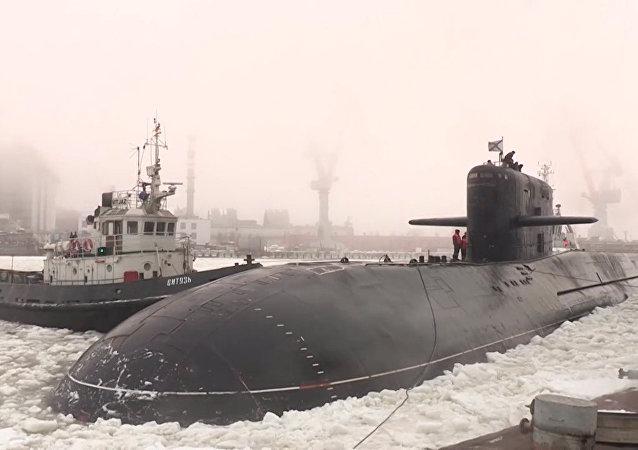 Potencia nuclear entre los hielos: el submarino Podmoskovie se une a la Flota Rusa del Norte