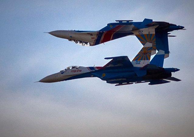 Aviones hipersónicos rusos Su-27 (archivo)