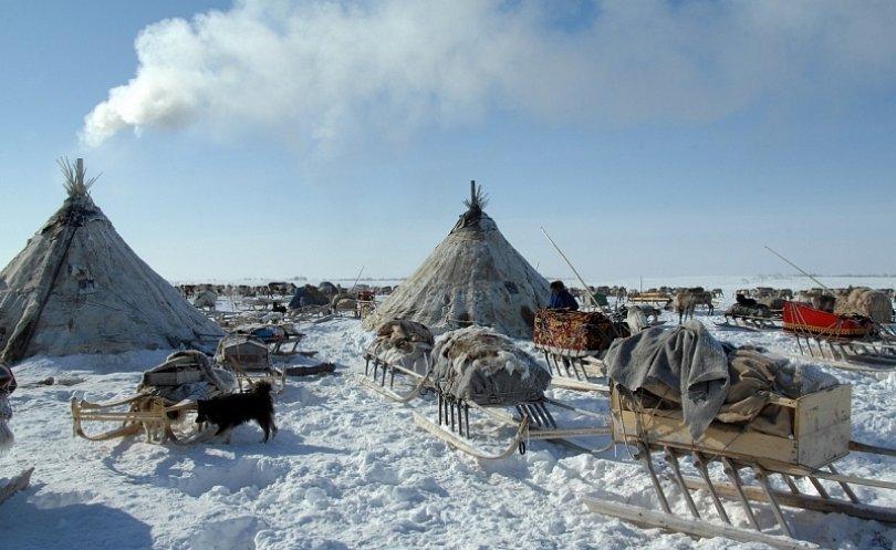 Hogar tradicional de los pastores siberianos en Yamal