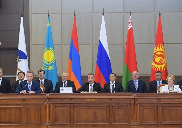 Reunión de la Unión Económica Euroasiática, el 12 de agosto de 2016