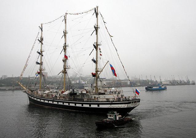 La fragata rusa Pallada