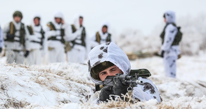 Ejercicios militares en la óblast de Amur, marzo de 2016