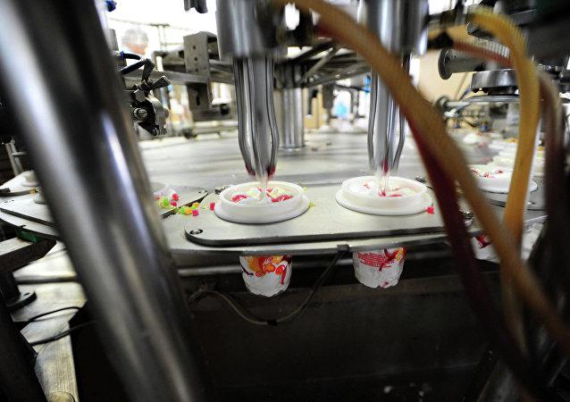La producción de helado ruso