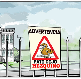 'Advertencia, pato cojo mezquino'