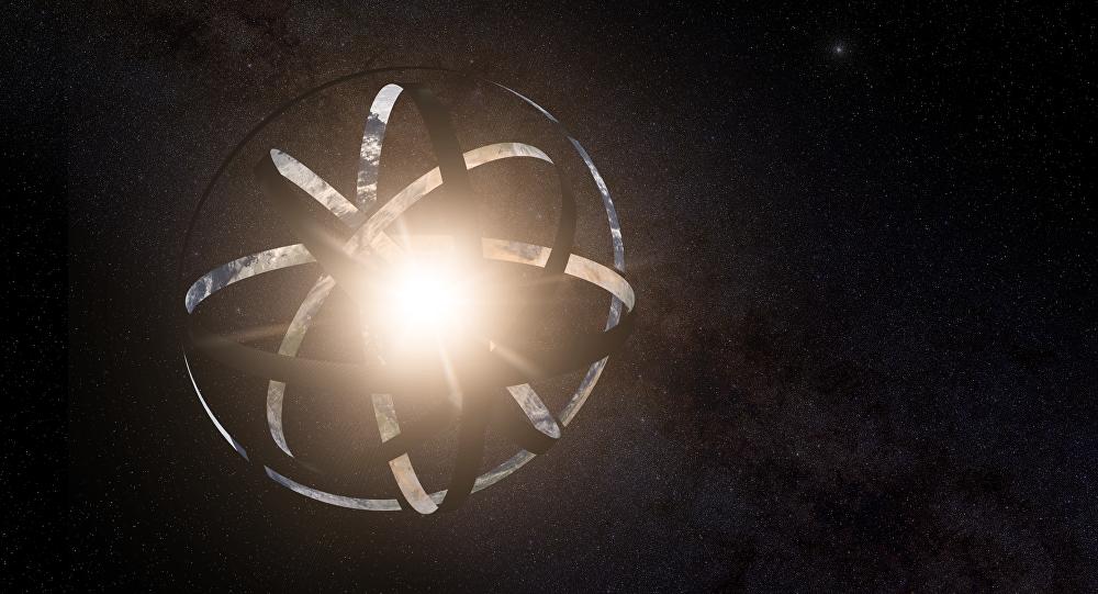 Impresión artística de la megaestructura Esfera de Dyson alrededor de una hipotética estrella