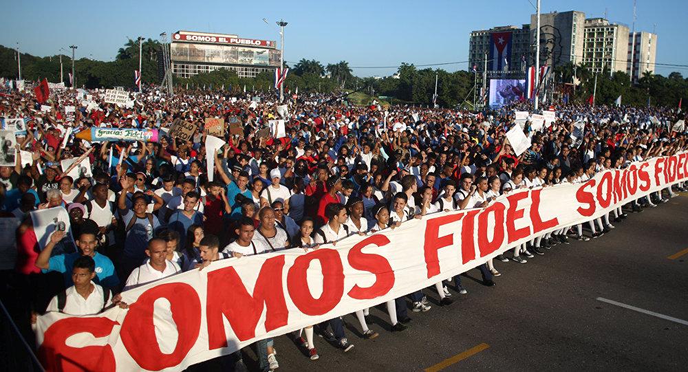 Manifestación en La Habana
