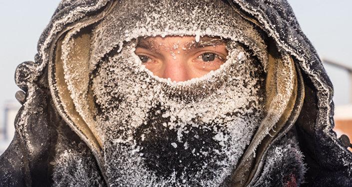 Invierno frío en Rusia