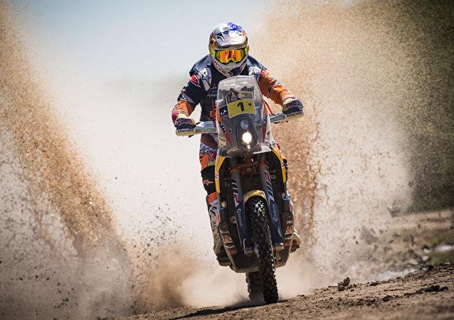 Un participante del rally Dakar (archivo)