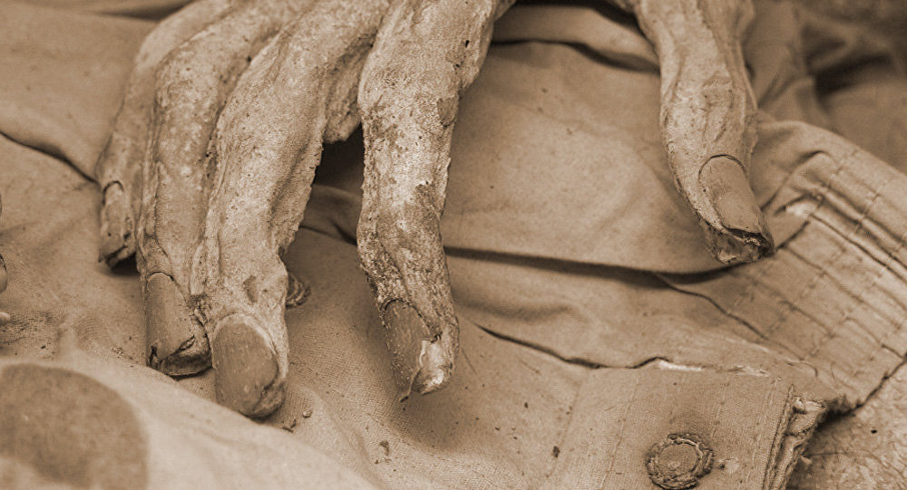 Mano de una momia en Guanajuato, México (imagen referencial)