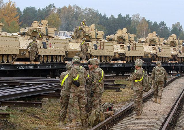 Militares estadounidenses en Lituania (archivo)