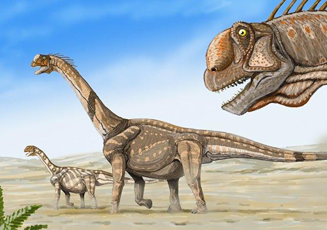 Dinosaurio Camarasaurus supremus (ilustración)
