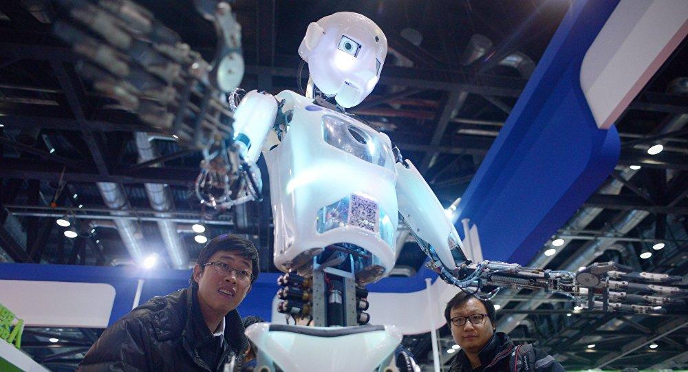 Un robot demonstrado en una feria robótica en China (imagen ilustrativa)