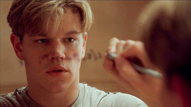 Matt Damon protagoniza a Will Hunting en la cinta ' Good Will Hunting'