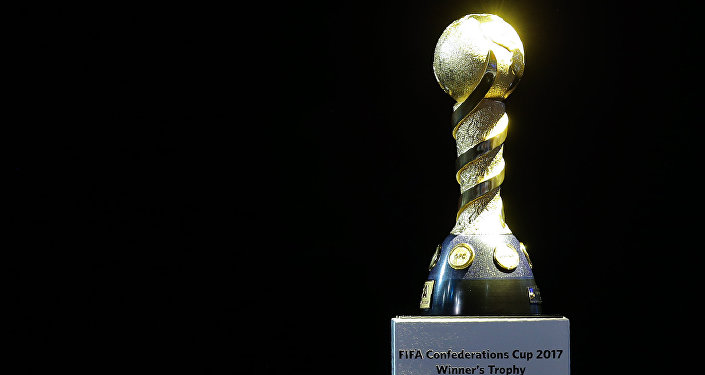 El trofeo de la Copa Confederaciones 2017