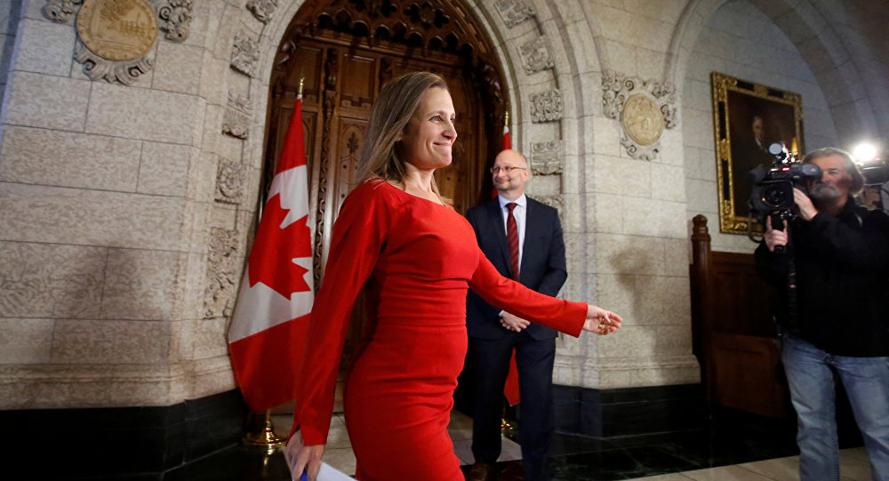 Chrystia Freeland, la ministra de Exteriores de Canadá