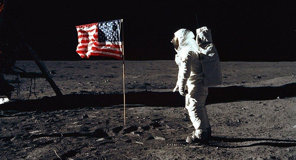 Astronauta Edwin Aldrin en la Luna