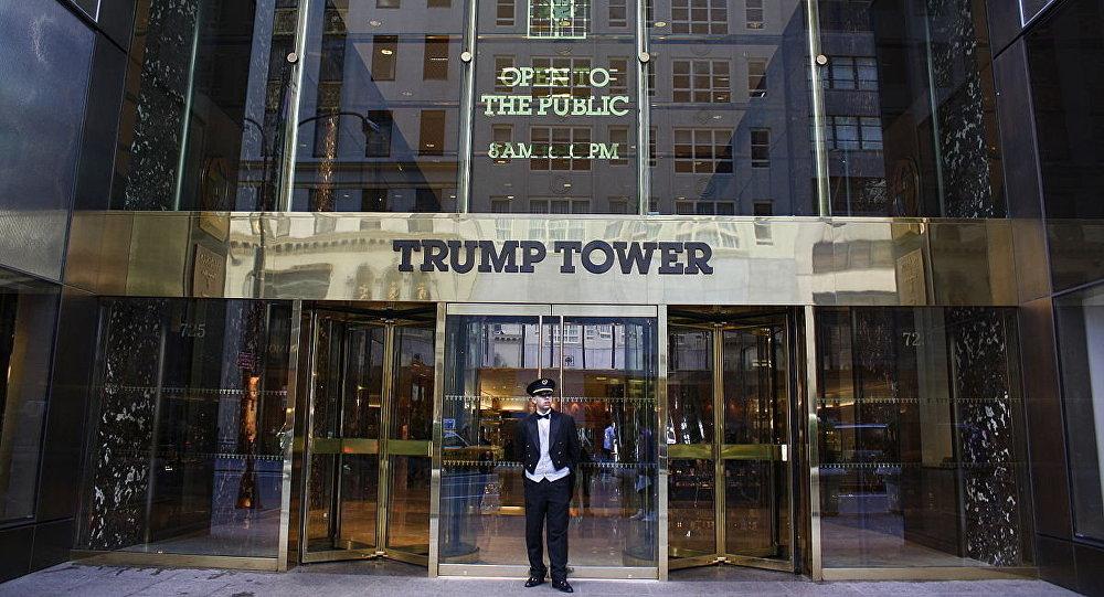 La entrada principal de Trump Tower (archivo)