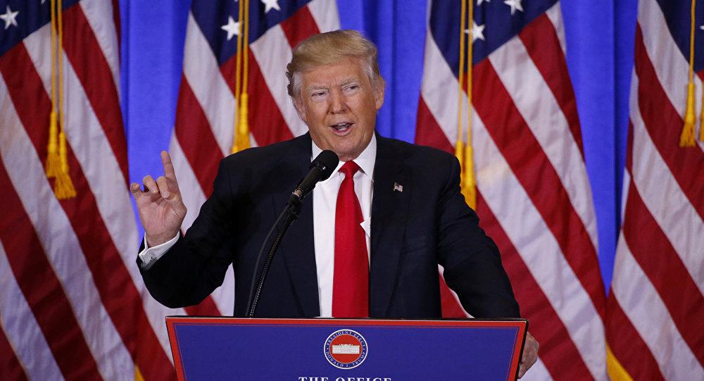 La primera rueda de prensa de Donald Trump tras ganar las elecciones presidenciales de EEUU (archivo)