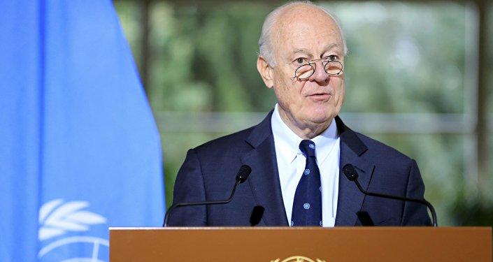 El Enviado Especial de las Naciones Unidas para Siria, Staffan de Mistura